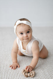Coconut Linen Bubble Romper