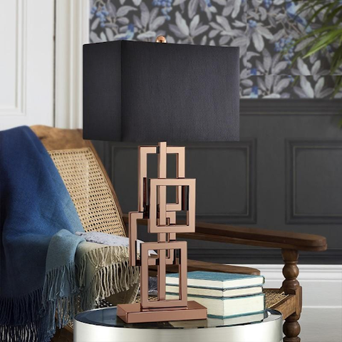 Squares Accent Table Lamp