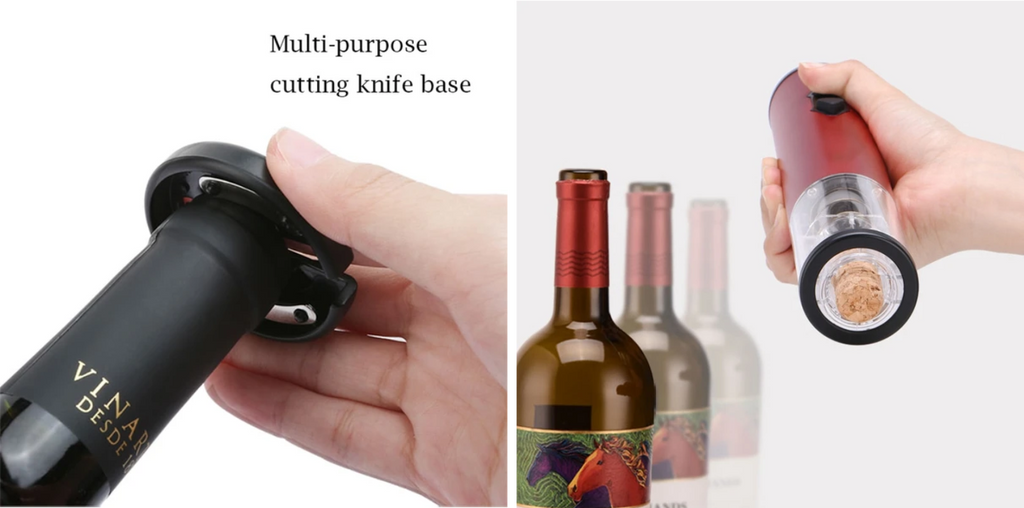 Cordless Electric Wine Bottle Opener with Foil Cutter