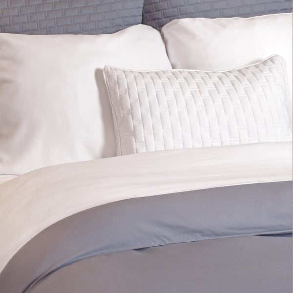 Bamboo Duvet Cover Platinum/White