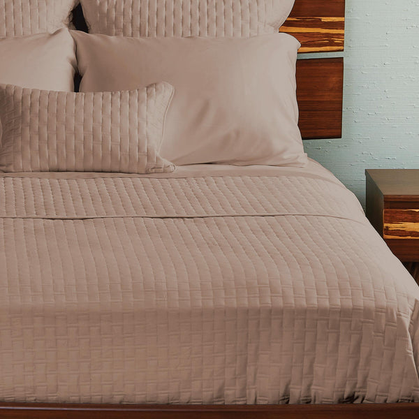 Bamboo Quilted Coverlet Champagne