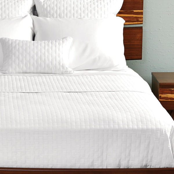Bamboo Quilted Coverlet White