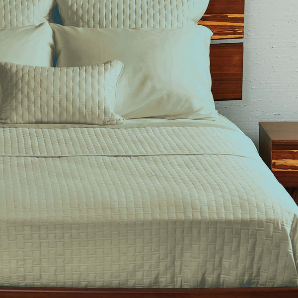 Bamboo Quilted Coverlet Sage