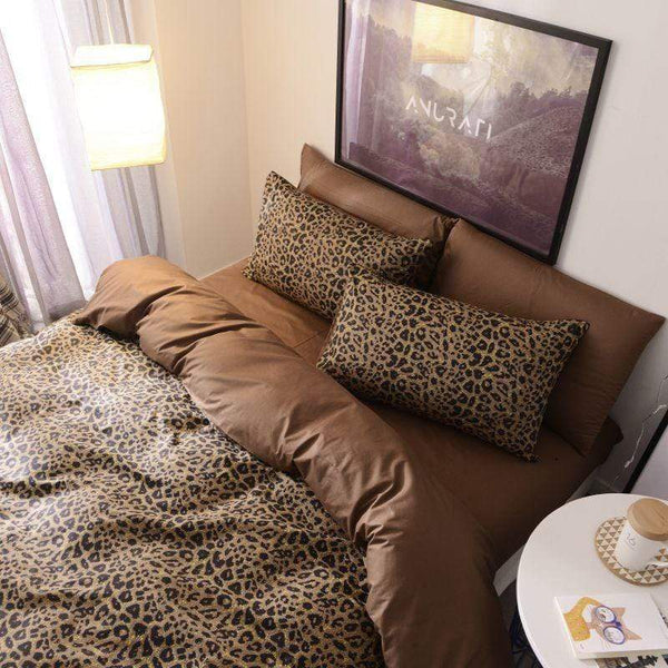 Colac Leopard Comfy Cotton Bedding Set