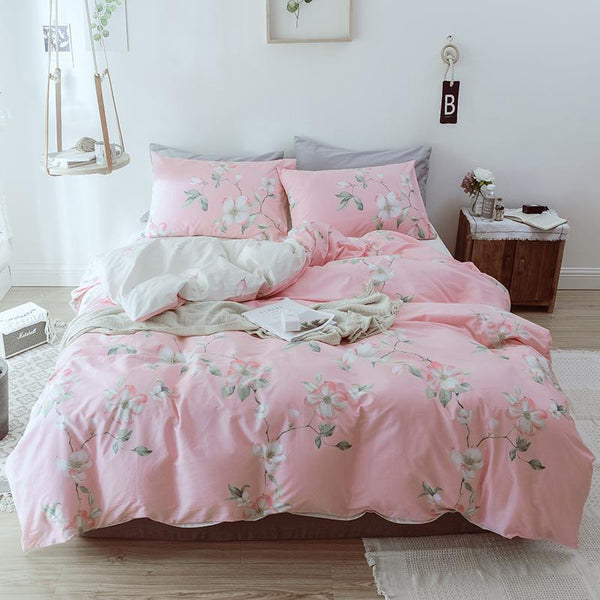 Zeehan Floral Print Ultra Soft Cotton Bedding Set
