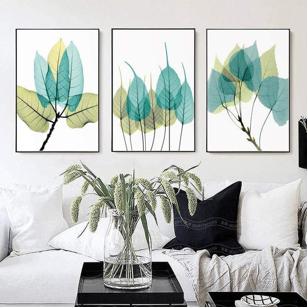 Splash of Colored Leaves Canvas