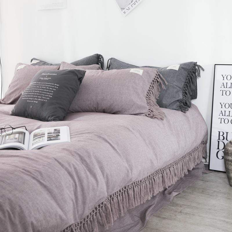 Windsor Summer Cotton Tassel Bedding Set