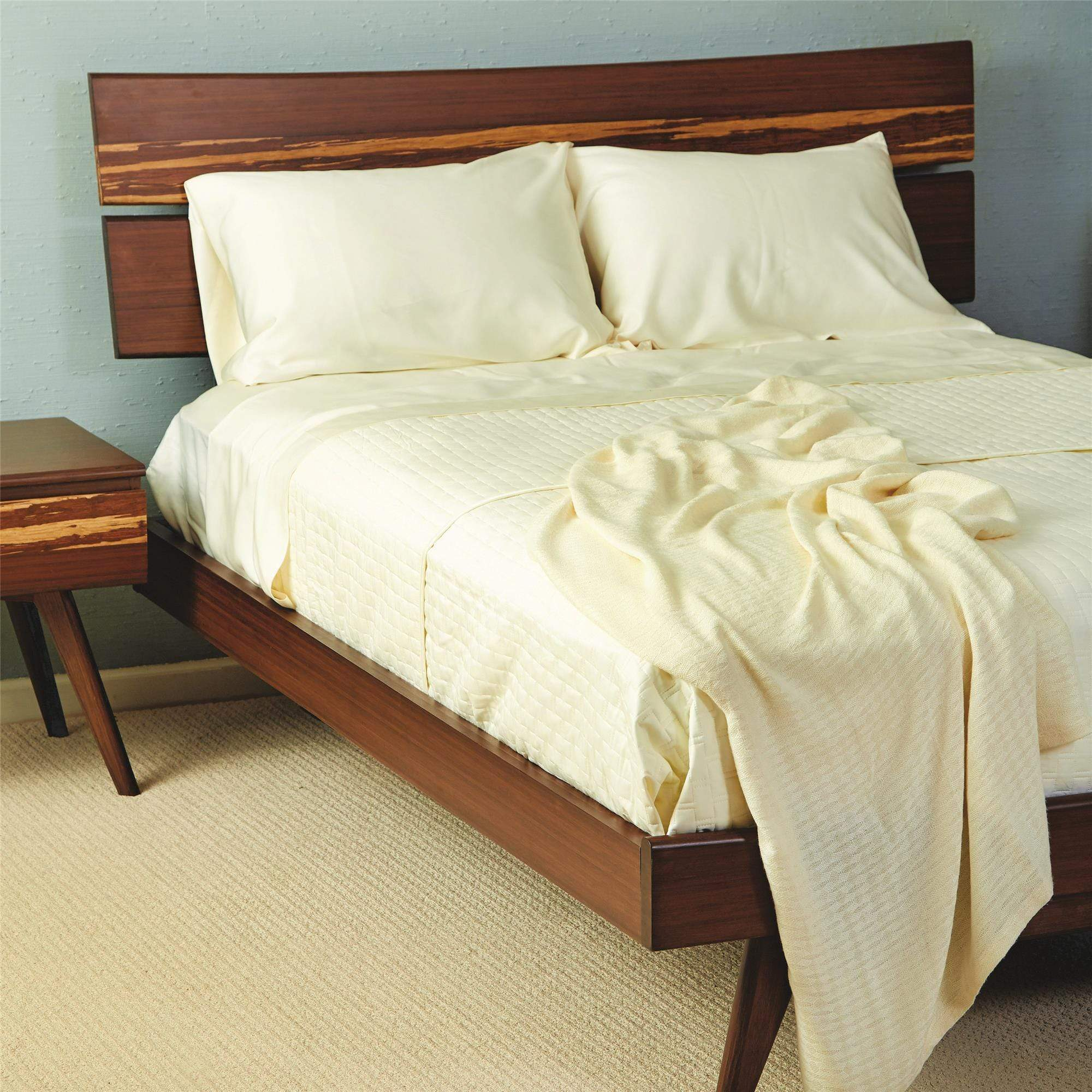Bamboo Maternity Bed Sheets Pre & Post Pregnancy Undyed Ivory