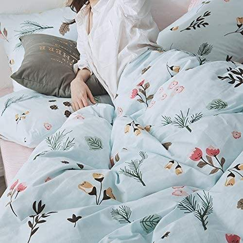 Blue Floral Duvet Cover Bedding Set | Guccio Home Gallery