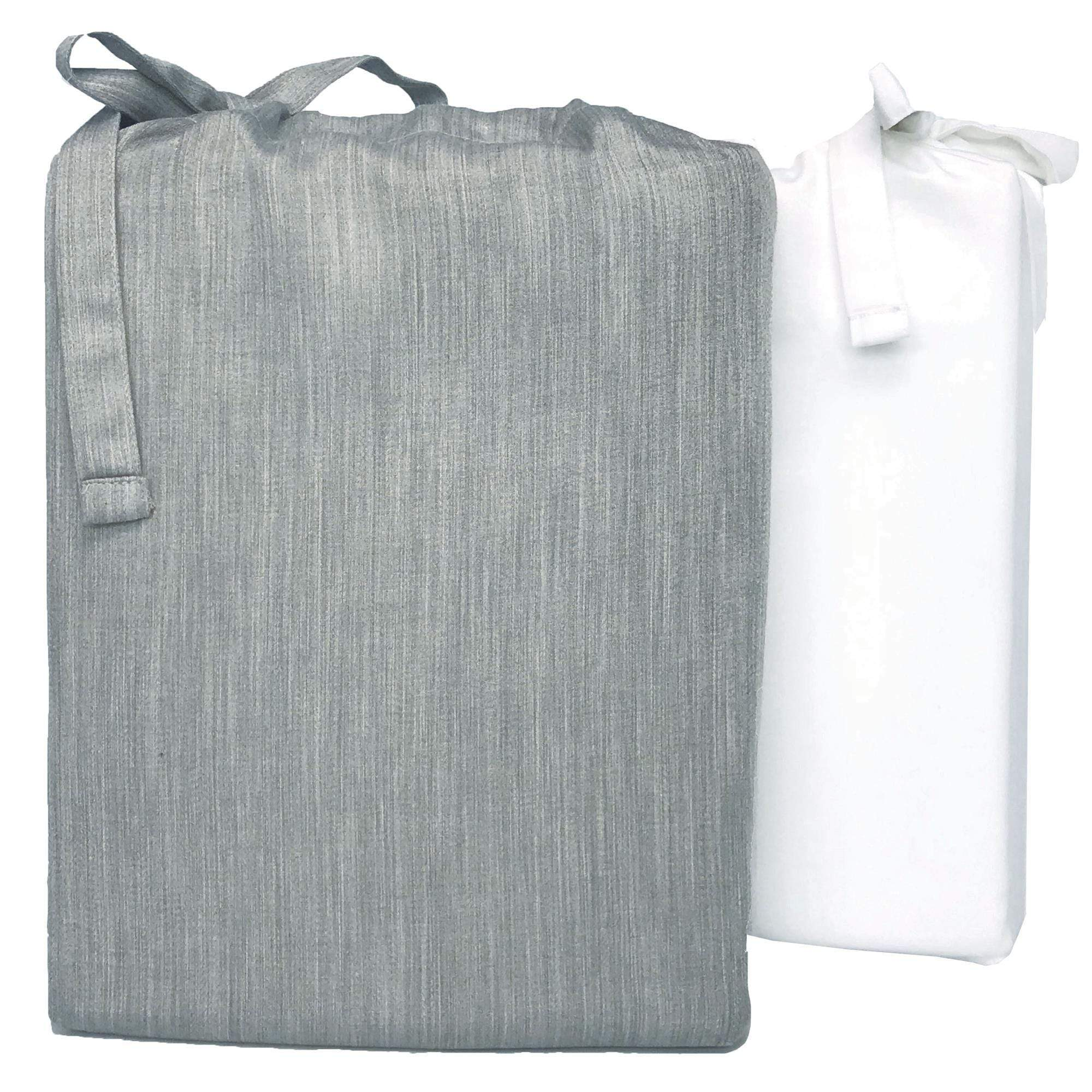 eco-mélange™ Bamboo Cotton Duvet Covers Silver