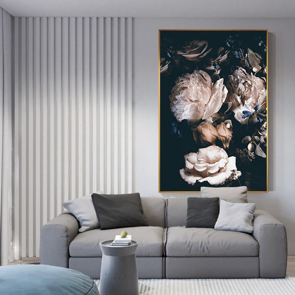 Flowers In the Dark Canvas