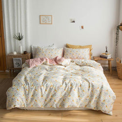 Bunbury Chic Flower Printed Soft Cotton Bedding Set