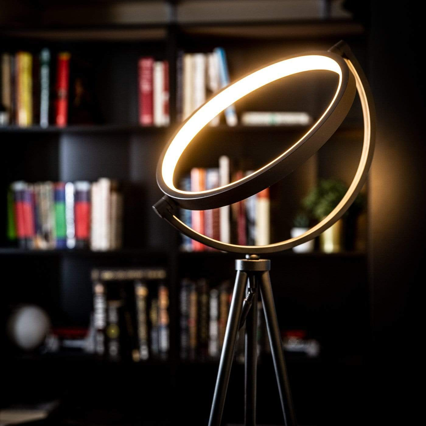 Ella New design modern unique nordic living room tripod black led floor lamp