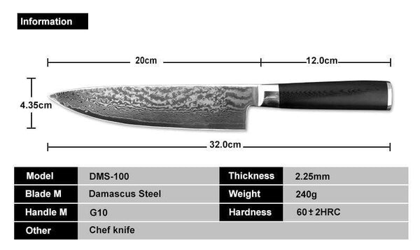 Skarpur 8-Inch Chef Knife
