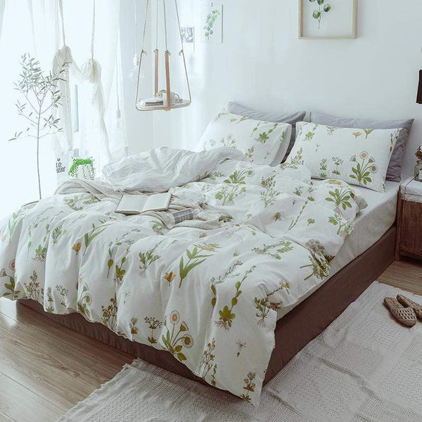 Brighton Floral Print Ultra Soft Cotton Bedding Set