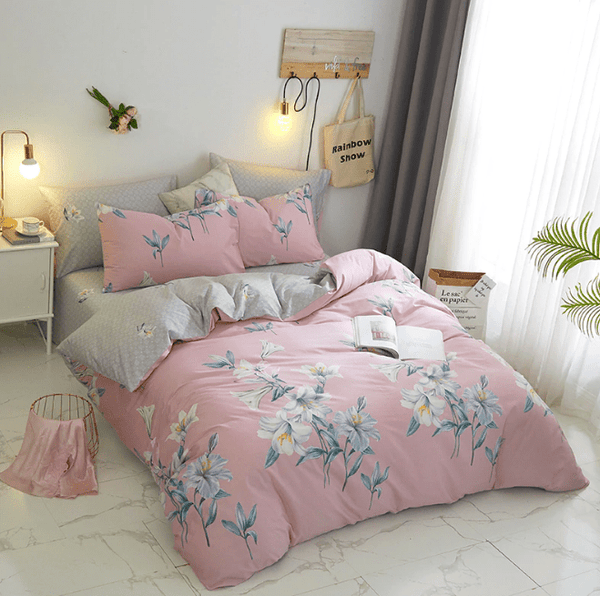 Isa Botanical Leaves Soft Cotton Bedding Set