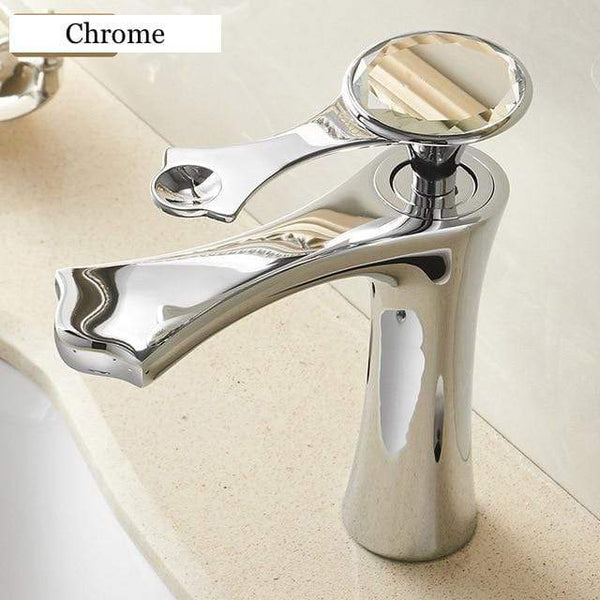 Alexandria Hot & Cold Golden Bathroom Sink Faucet