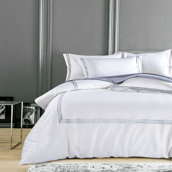 White & Lines 100% Egyptian Cotton Luxury Bedding Sets | Guccio Home