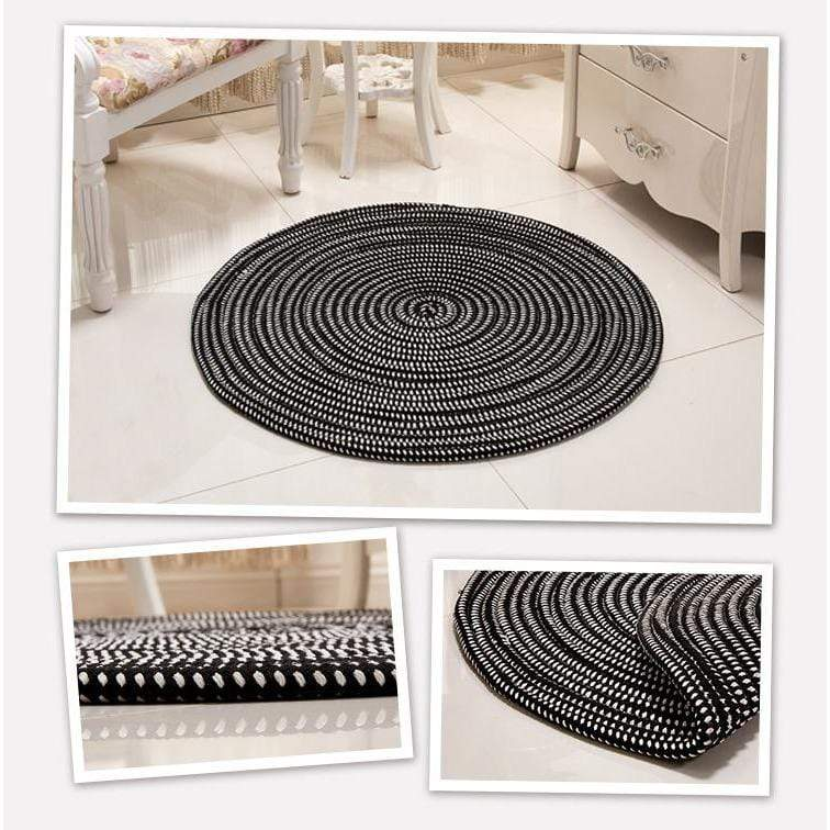 Hand Woven Round Rug