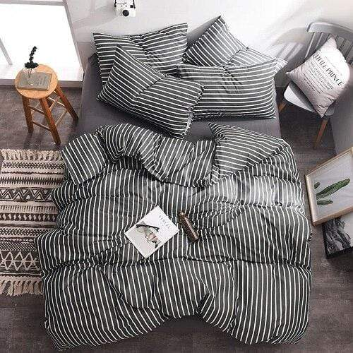 Parkes Stripes Comfy Cotton Bedding Set