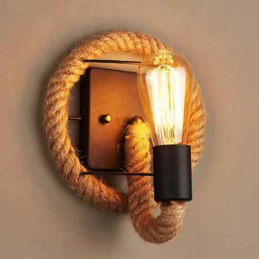 Valence Hemp Rope Edison Wall Light