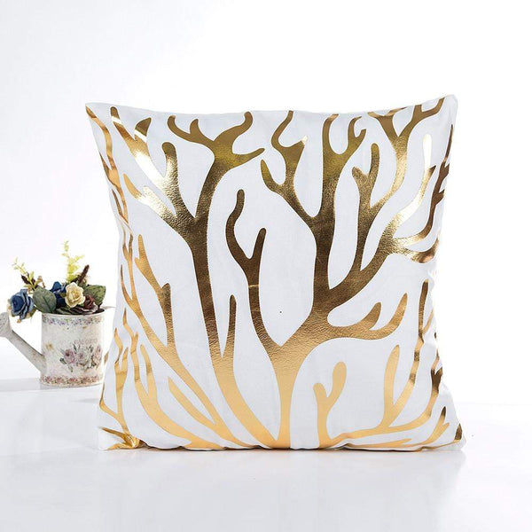 Gold Branches Cushion Cover