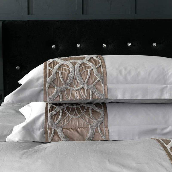 White & Sepia Best Value 100% Egyptian Cotton Bedding | Guccio Home