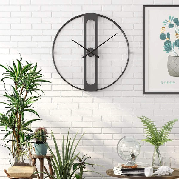 Cornelius Black Wall Clock Decor