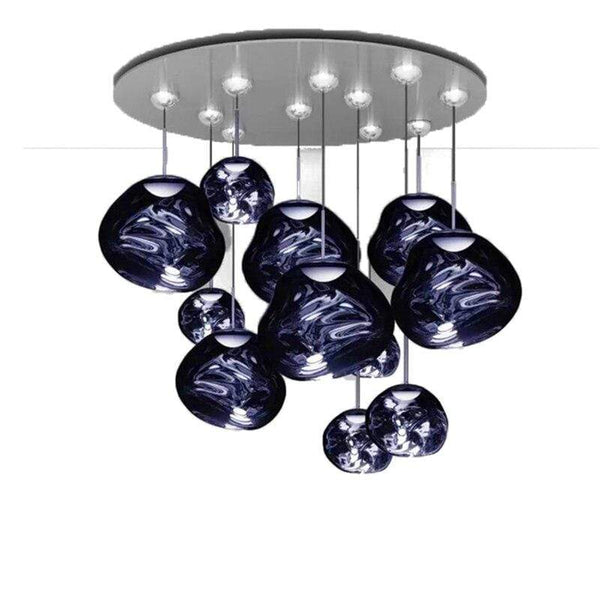 Kiel Blue Glass Chandelier