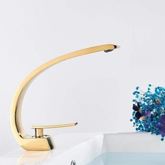 Fondi Deck Mount Bathroom Sink Faucet