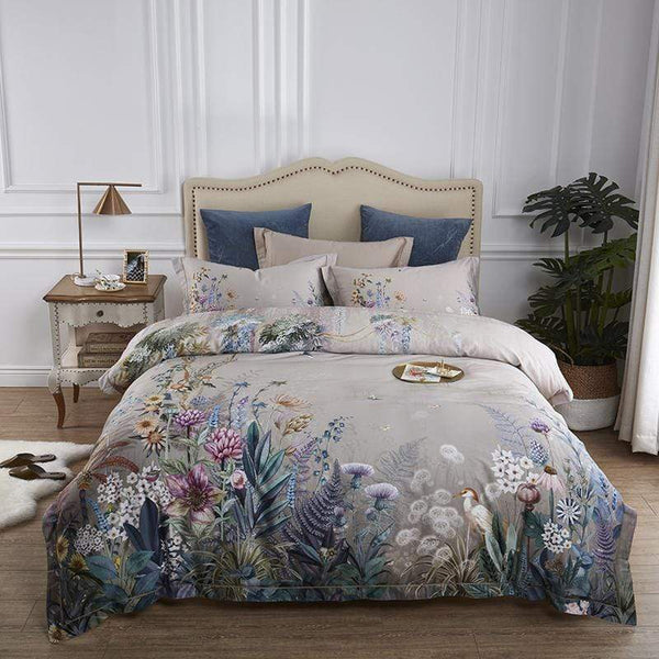 Floral Mystery Best Quality Egyptian Cotton Sheets I Guccio Home