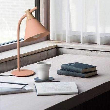 pink-desk-lamp-on-a-table-with-books-Zavato-Home