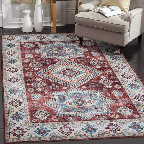 Median Moroccan Multicolor Vintage Rug