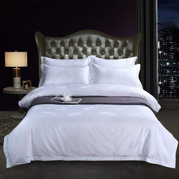 Pure White Good Quality 100%Egyptian Cotton Bedding Set | Guccio Home