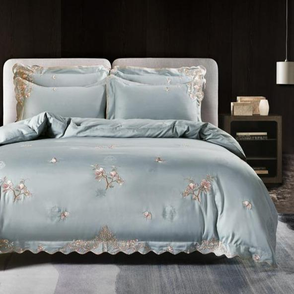 Cherry Blossoms 100% Egyptian Cotton Designer Bedding Sets | Guccio Home