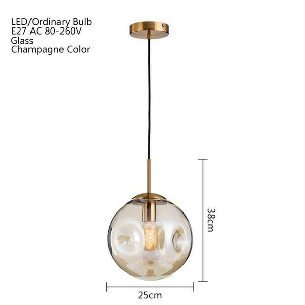 Barstow Glass Ball Pendant Light