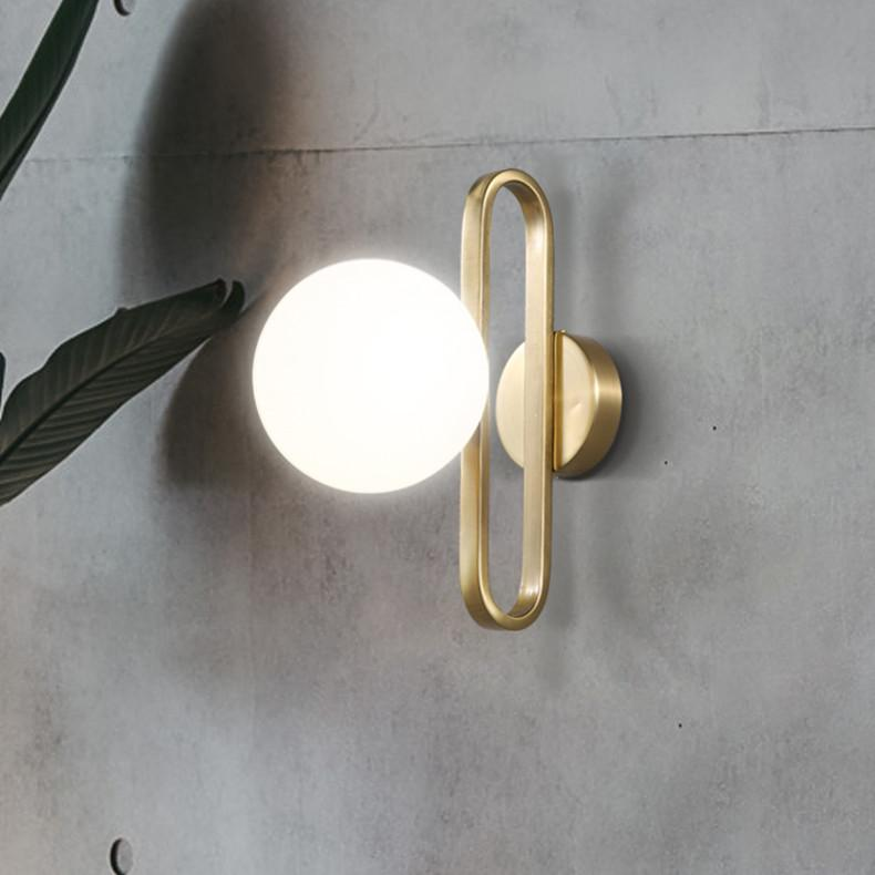 Dreux Glass Ball Wall Lamp