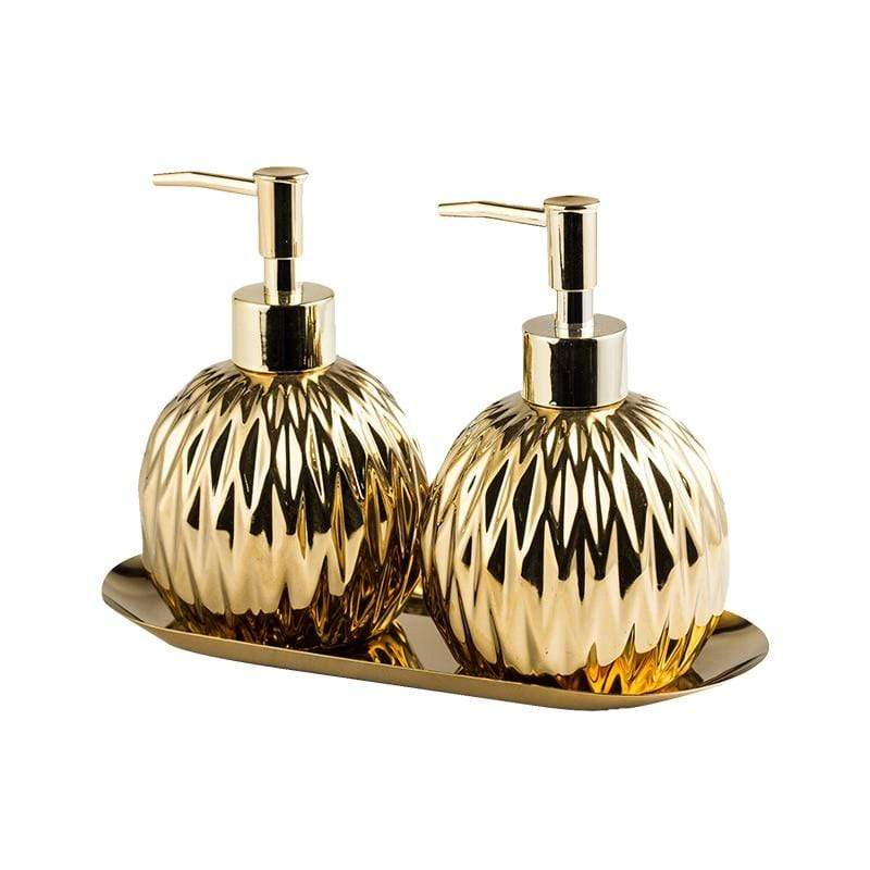 gold-liquid-dispenser-and-soap-dish-set-Zavato-Home