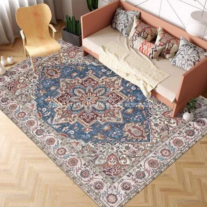 brown-vintage-rug-in-a-living-room-Zavato-Home