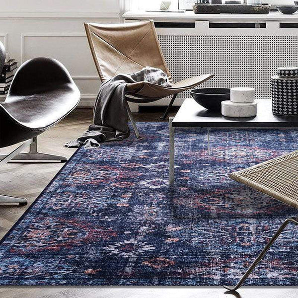 blue-vintage-rug-in-a-modern-setting-Zavato-Home