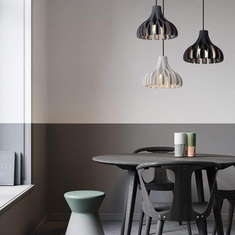 grey-black-and-white-pendant-lamp-over-a-table-Zavato-Home