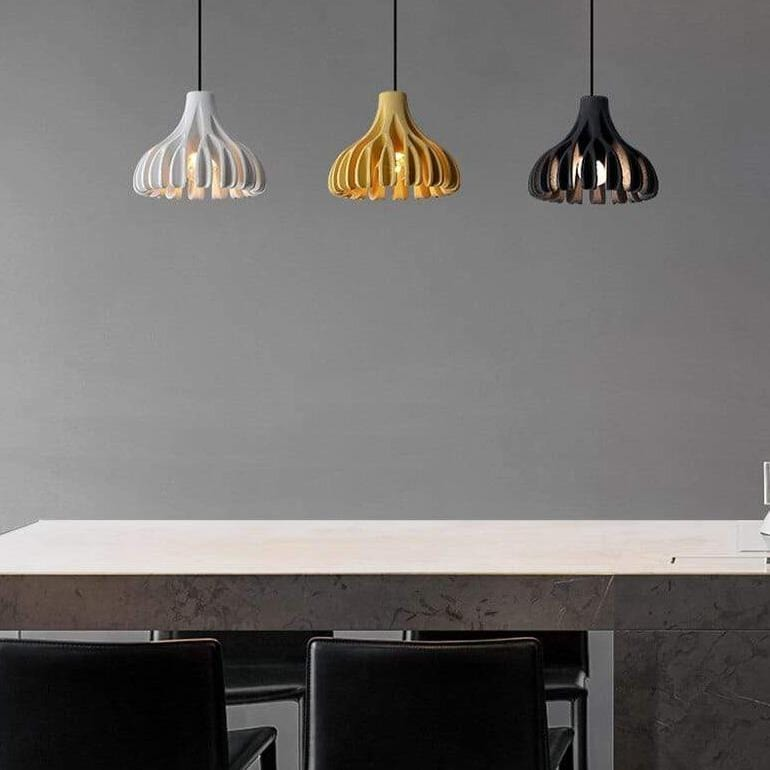 white-yellow-black-pendant-lamp-over-a-table-Zavato-Home