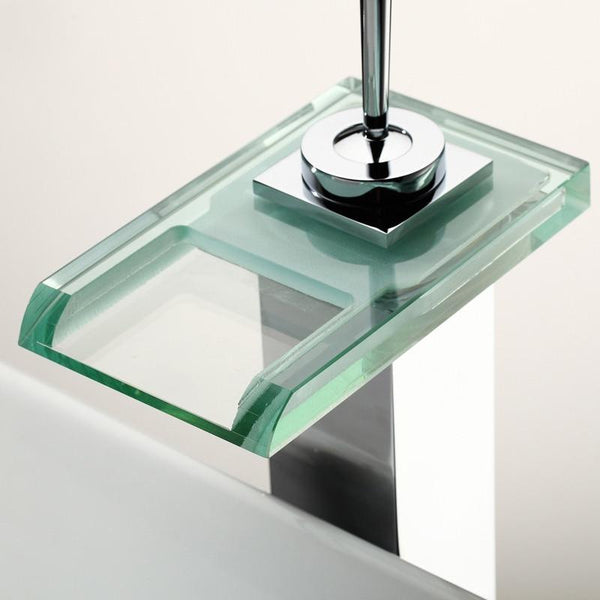 Savoca Color-changing LED Waterfall Sink Faucet
