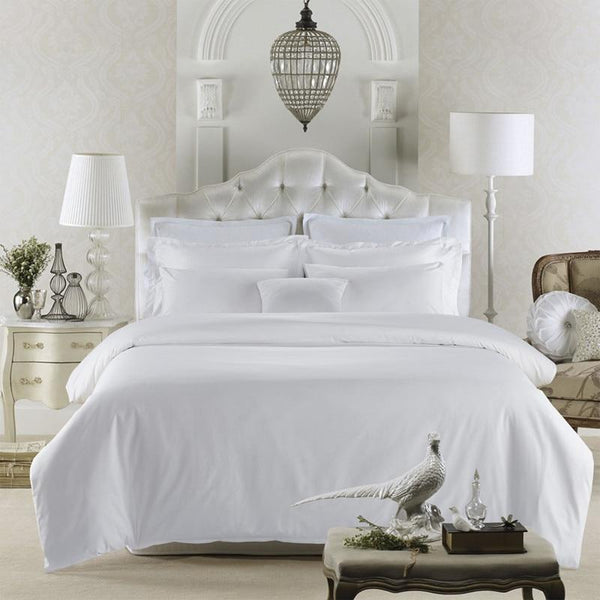 Hotel Quality Egyptian Cotton All White Bedding Set I Guccio Home