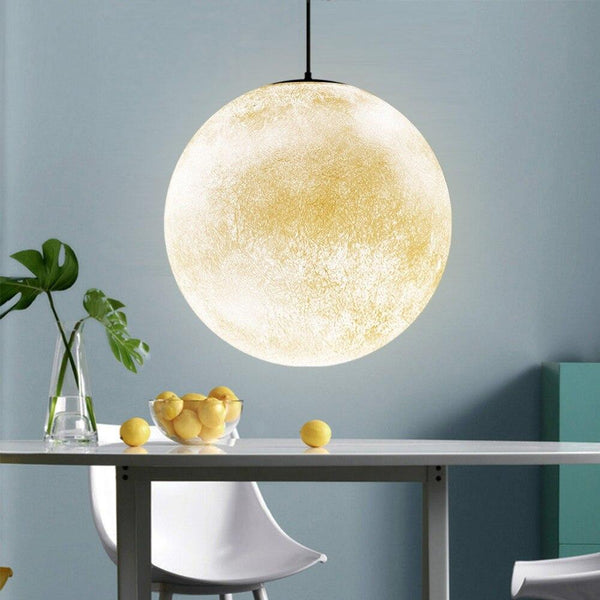 3D Moon Pendant Light