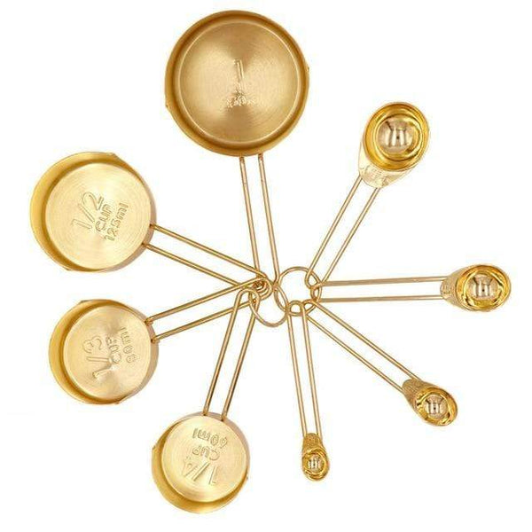 Foligno-Gold-Tone-Measuring-Cups-&-Spoons