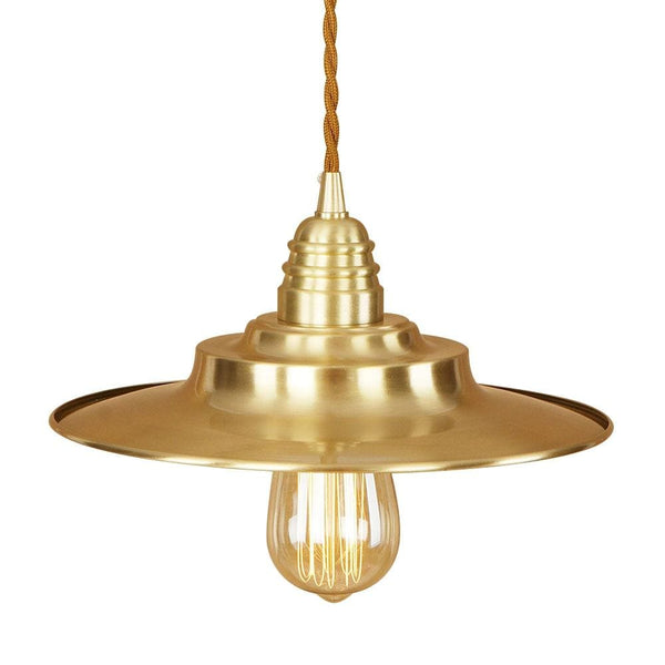 CHANIA - 1-Light Golden Industrial Pendant