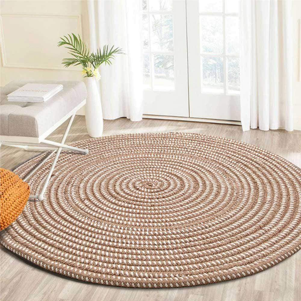 Caramel Hand Woven Round Rug