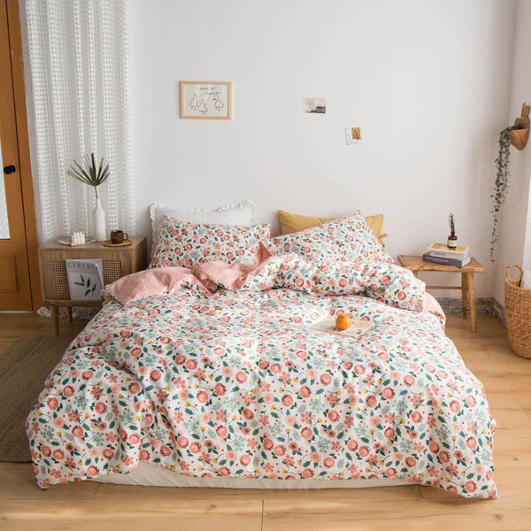 Geraldton Chic Flower Printed Soft Cotton Bedding Set