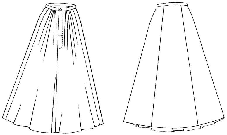 Folkwear 209 Edwardian Walking Skirt Sewing Pattern